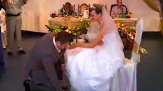 Свадьба Букет Подвязка Свадебные традиции Funny Wedding Bouquet Garter 結婚式の伝統
