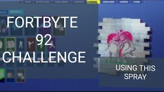 Fortnite Season 9 Unlock Fortbyte 92 Fast, Easy Location Using The Rock Love Spray