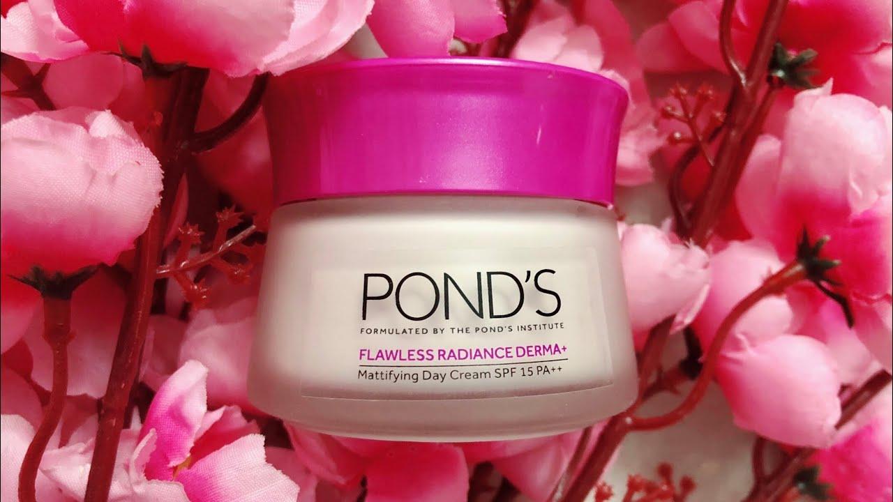 Kết quả hình ảnh cho Pond's Flawless White Radiance Derma+ Mattifying Day cream SPF15 PA++