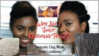 Collab | Is This The Permanent Solution To Dry Natural Hair? Bentonite Clay Mask | FT. FisayoAde