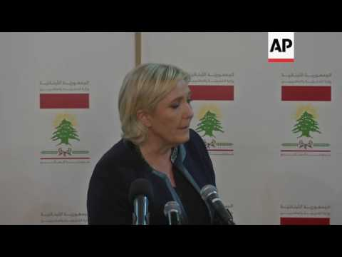 Le Pen on protecting Christians in the Mideast