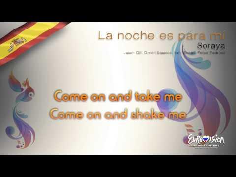 """Soraya - """"La Noche Es Para Mí"""" (Spain) - [Karaoke version]"""