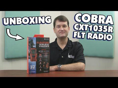 Cobra CXT1035R FLT Two Way Radio Unboxing