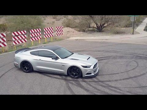 2015 Mustang Wheels >> Nathan's Bagged Ingot Silver Mustang GT | Mavic Pro | Slammed Stangs - YouTube