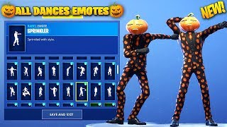 *NEW* JACK GOURDON (HALLOWEEN 🎃) SKIN SHOWCASE WITH ALL DANCES/EMOTES! Fortnite Battle Royale