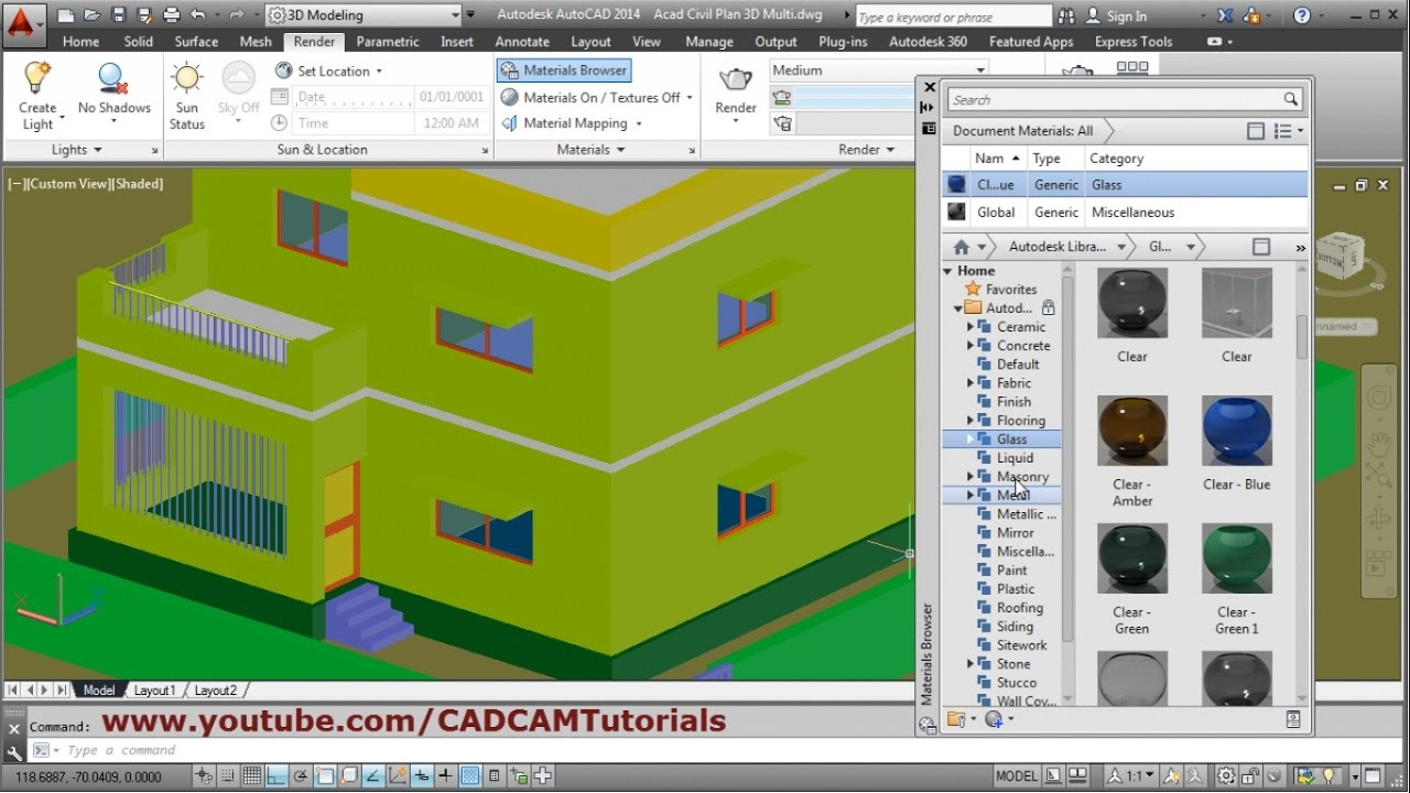 how to build a 3d house in autocad