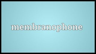 Membranophone Meaning