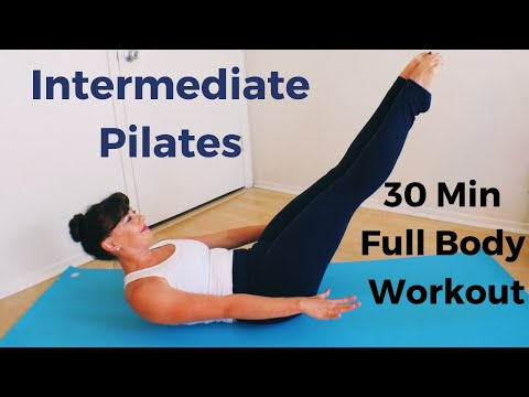 30 Minute Intermediate Pilates Mat Class: Full Body Workout
