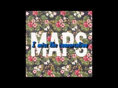 Maroon 5 - Maps (Instrumental/Karaoke) with lyrics