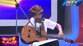 Người bí ẩn |  Đàn guitar và thổi harmonica bằng một tay  | HTV