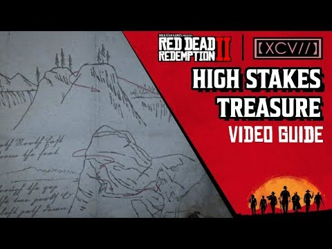 RED DEAD REDEMPTION 2 · High Stakes Treasure Map Locations Video Guide   【XCV//】