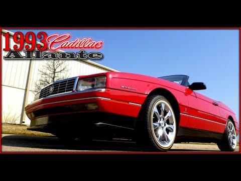 1993 Cadillac Allante Convertible FOR SALE - YouTube