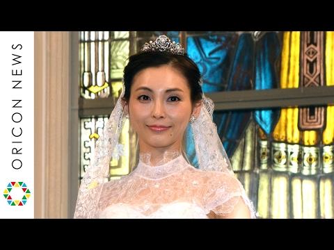 押切もえ、結婚後初イベント 挙式時のウェディングドレスで登場 ウェディングドレス『パウダーローズ』発表会