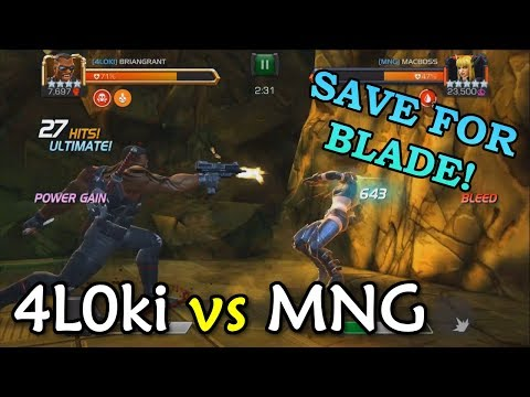 T1 Alliance War: 4L0ki vs MNG with Blade, Stark Spidey, Iceman | Marvel Contest of Champions