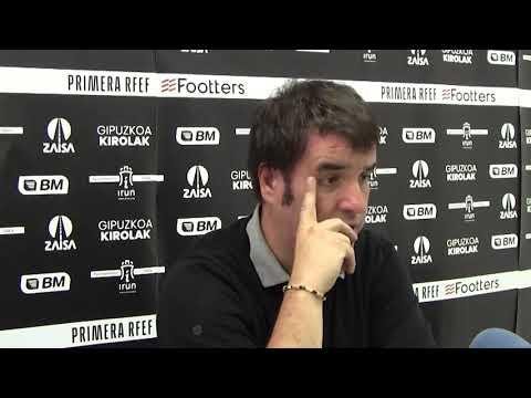 Aitor Zulaika, tras el Real Unión 2-1 RC Deportivo