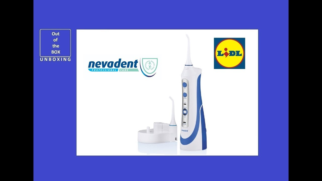 Nevadent Dental Water Jet Nmd 37 B2 Unboxing Lidl 16 Hours 14 W