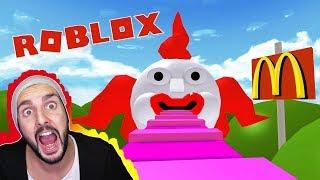 Roblox: McDonald's ESCAPE! K tried to flee McDonalds world of! Happy meal-Ninja Warrior