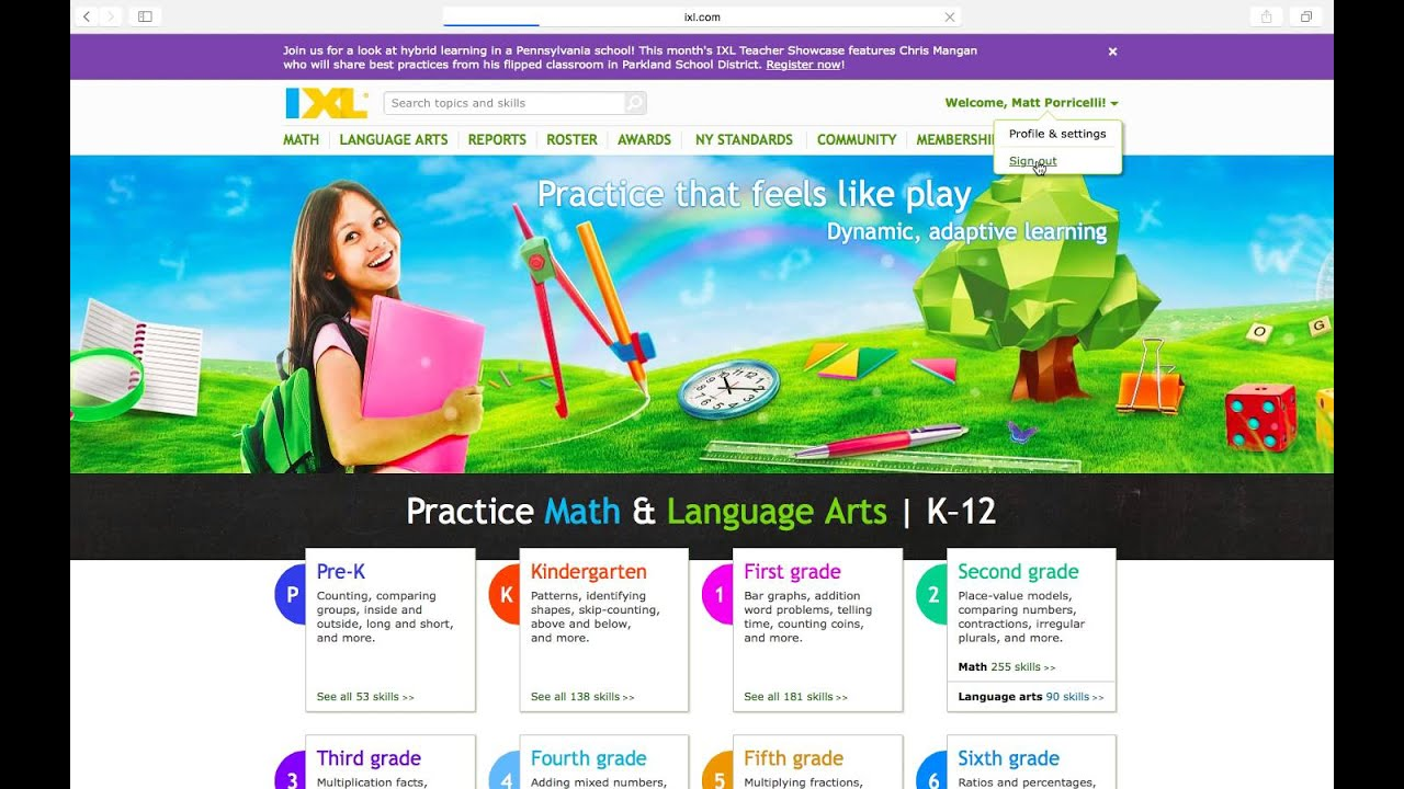 IXL login - YouTube