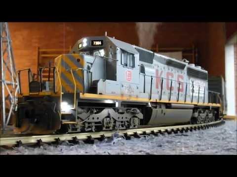 Usa trains custom built kcs emd sd40 2 w zimo sound modellbahnausstellung bad oldesloe 2012