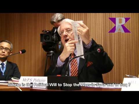 Stop Syria and Iraq War, Paulo Sergio Pinheiro at the U.N. Geneva Side Event