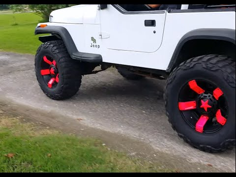 Hot Pink Custom Painted XD811 II Rockstar Rims Inserts Jeep Wrangler 33's