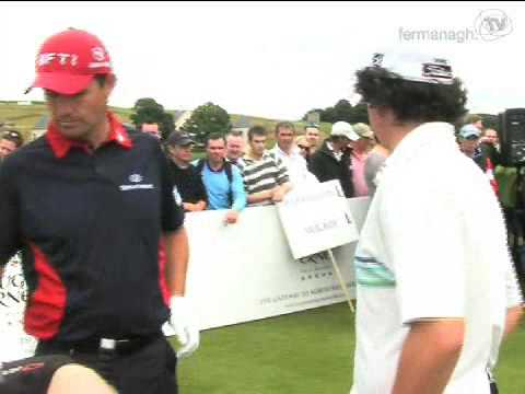 Golfing greats test Faldo Course in Fermanagh