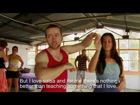 Learn Salsa in Cali, Colombia with the Dancing Irishman (Tiempo Real, Telepacifco)