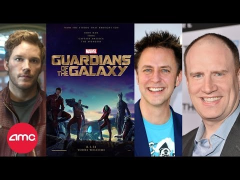 Live GUARDIANS OF THE GALAXY Interview with Chris Pratt, James Gunn and Kevin Feige - AMC Movie News