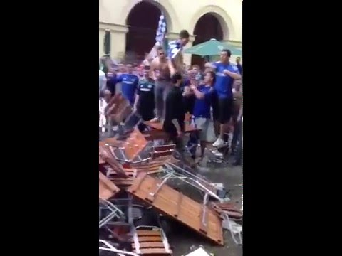HOOLIGANS RIOTS 1 - fans of chelsea destroy pubs and beat the manager