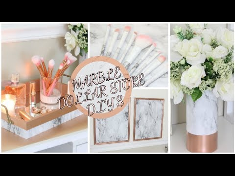 DOLLAR TREE MARBLE DIY DECOR DOLLAR STORE CHALLENGE