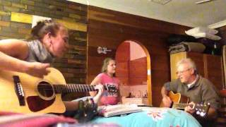 Miss Mikaila Jamming with her Gramps - 'Lipstick On Your Collar' (Cover)
