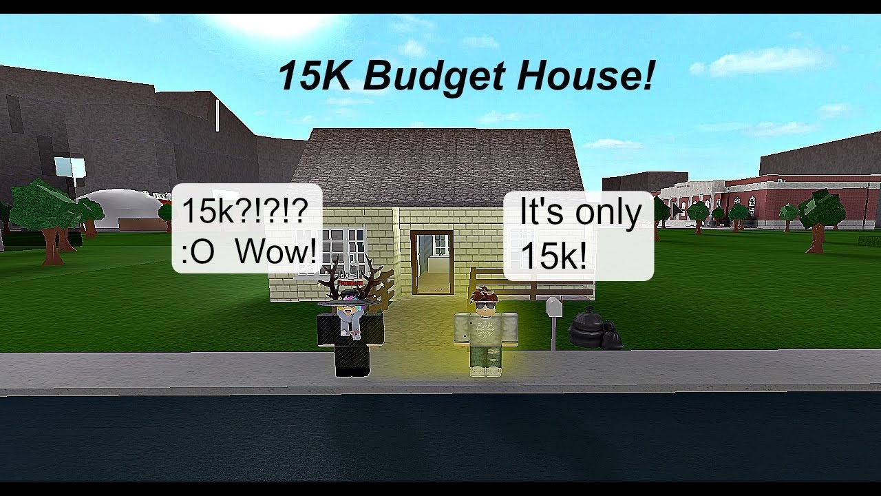 Roblox bloxburg speedbuilds ep 8 15k budget house for How to build a house for 50k