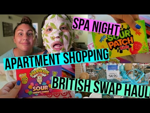 APARTMENT SHOPPING, BRITISH SWAP HAUL, & SPA NIGHT!!!
