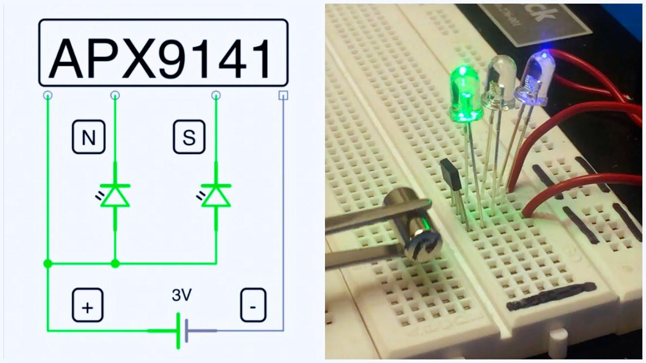 Diy Magnet Pole Tester With Hall Effect Sensor