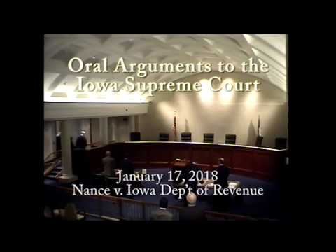 16-1974 Nance v. Iowa Dep't of Revenue, January 17, 2018