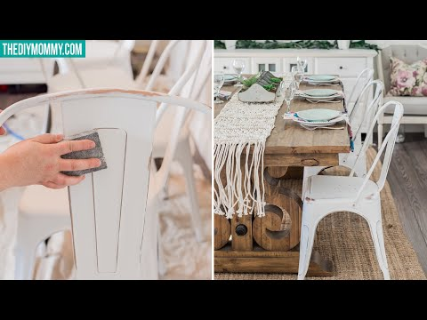 How to Chalk Style Paint and Distress Furniture