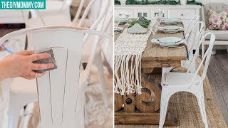 How to Paint and Distress Furniture (Farmhouse Chair Makeover Pt. 2!)