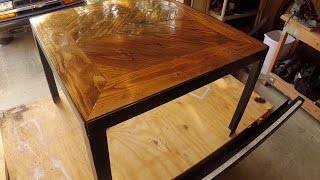 Rustic/industrial Coffee Table Build Timelapse