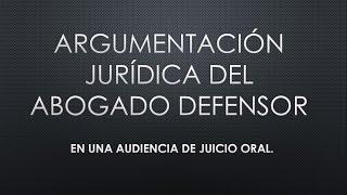 Como hablar en una audiencia de juicio oral  || TUTORIAL ||