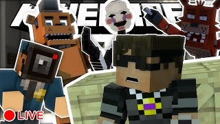 Minecraft Five Nights at Freddy's Hide N Seek + Murder /w Friends! (Funny Moments)