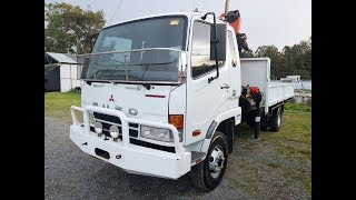 Crane Truck Mitsubishi Fuso Turbo Diesel 2007 Review For Sale