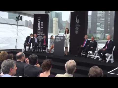 Forest City Ratner President Maryanne Gilmartin Speaks At Cornell Tech RI Groundbreaking