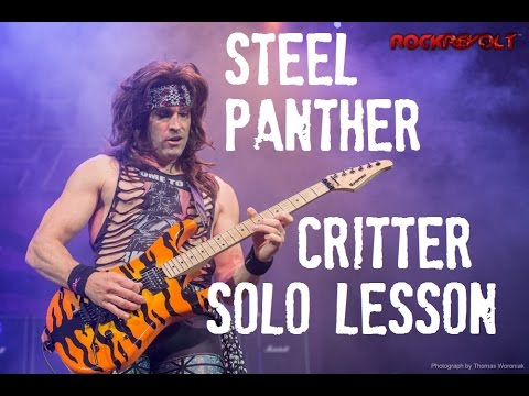 steel panther critter guitar solo lesson youtube. Black Bedroom Furniture Sets. Home Design Ideas