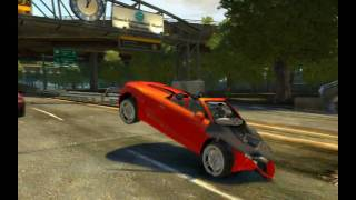 Grand Theft Auto IV - Slow Motion Car Crashes HD