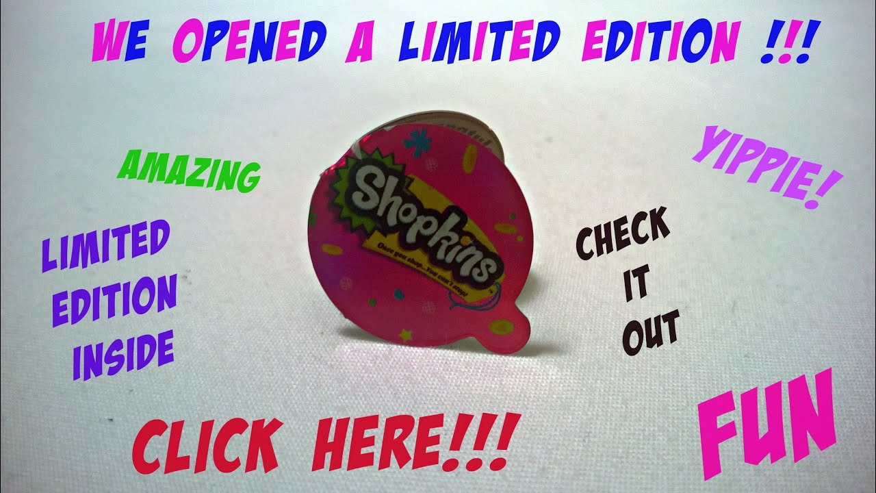 High Quality New Limited Edition Shopkin! Shopkins 12 Packs Completed 1st Collection.  Limted Edition Shopkins!!!   YouTube
