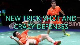 new crazy lucky badminton trick shot incredible rallies