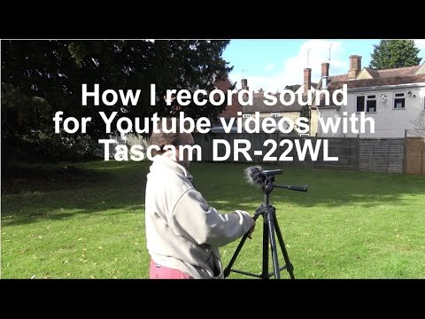 Tascam DR-22WL Sound Recorder - Record sound for Youtube videos