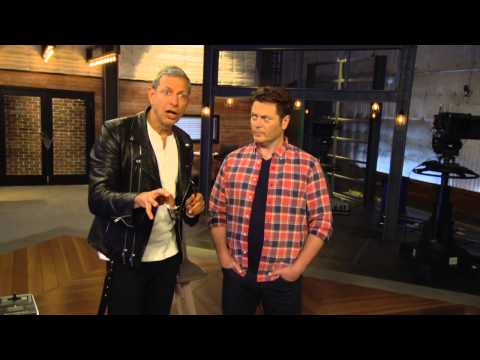 Red Nose Day 2015:Jeff Goldblum & Nick Offerman Official TV Interview