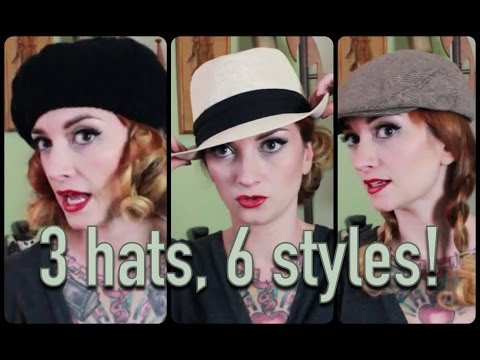 6 ways to wear your hair with 3 different hats by CHERRY DOLLFACE