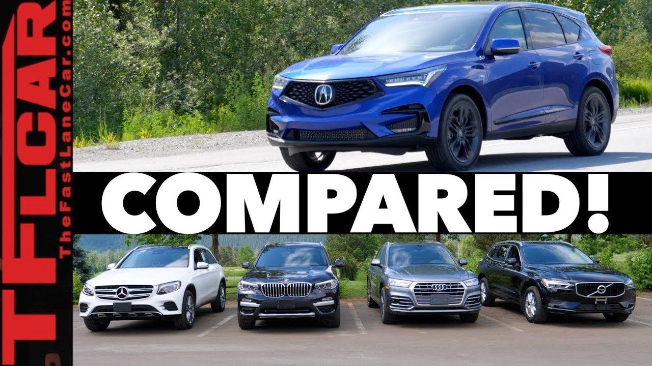 Compared 2019 Acura Rdx Vs Audi Q5 Vs Bmw X3 Vs Volvo Xc60 Vs Mercedes Benz Glc
